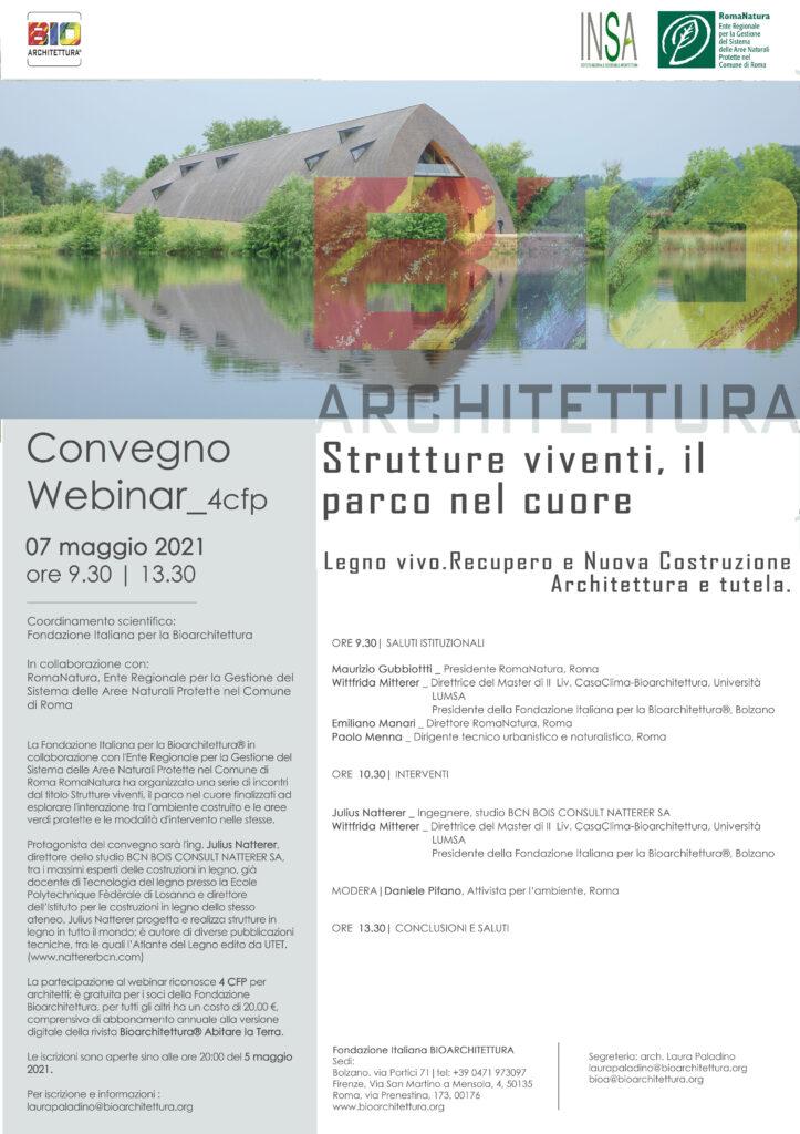 """Convegno """"Bio-Architettura"""" programma"""